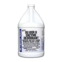 Steamway International - Enz-Odor III - Enzyme Deodorant for Protein & Pet Odors - 1 Gallon - 9541000