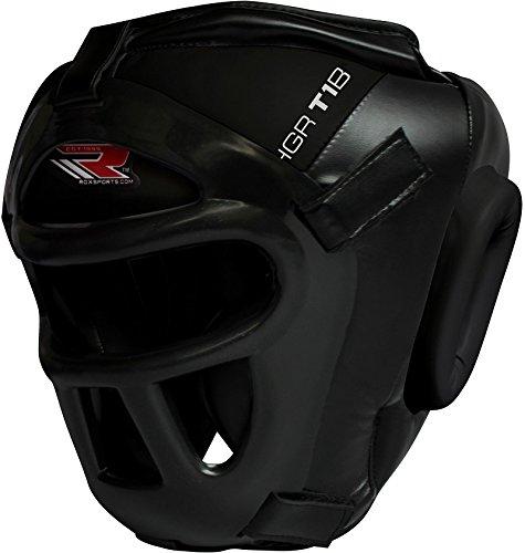 RDX Kopfschutz / Helm mit abnehmbarem Gitter - BLACK - Krav Maga Helm , Kampfsport Helm,Kopfschutz, Headguard ,Kopfschutz Gitter,Jochbeinschutz,Kopfschutz Krav Maga