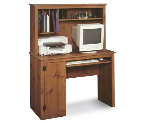 Sugar Creek Computer Desk with Hutch- Spiced Pine
