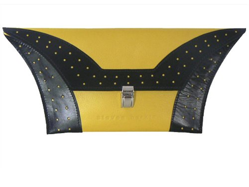 suede clutch bag black. Leather clutch bag, Yellow
