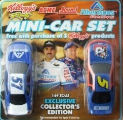 Kelloggs Stock Car and Albertsons Stock Car Mini Two Car Set