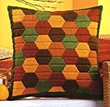 Colourful Hexagons Long Stitch Cushion Front