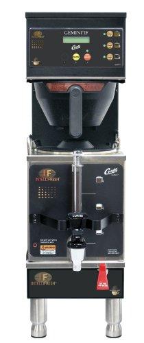 Wilbur Curtis Gemini Single Coffee Brewer, 1.5 Gallon with IntelliFresh, Black - Commercial Coffee Brewer  - GEMSIF10B1000 (Each)