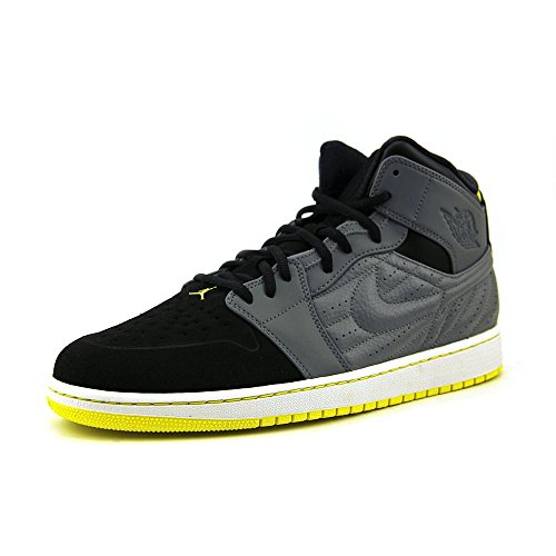 Nike Jordan Men's Air Jordan 1 Retro '99 Cool Grey/Vbrnt Yllw/Blk/White Basketball Shoe 10 Men US (Air Jordan 10 Retro Cool Grey compare prices)