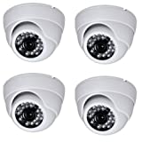 Secure-U-MX238-Sony-Chip-1000TVL-IR-Dome-Cameras-(4Pcs)