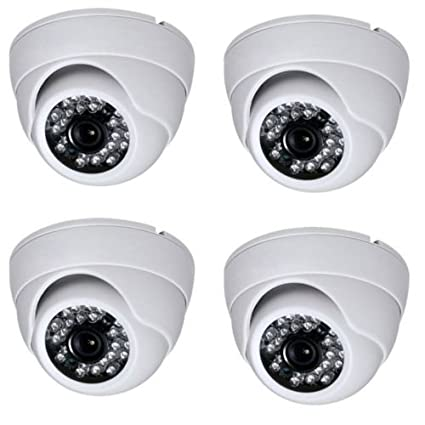 Secure-U MX238 Sony Chip 1000TVL IR Dome Cameras (4Pcs)