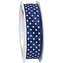 Morex Ribbon Wired Mini Star Ribbon 1-Inch by 22-Yard Navy Blue