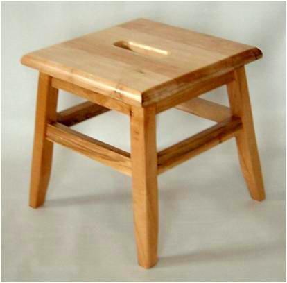 Cheap Footstool Solid Hardwood Conductor Stool Step Stool