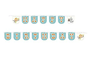 Happi Woodland Boy Shaped Ribbon Banner 7ft long Party Supplies from Creative Converting