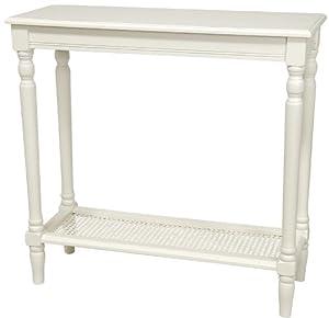 Oriental Furniture 29-Inch Classic Design Console Table, White