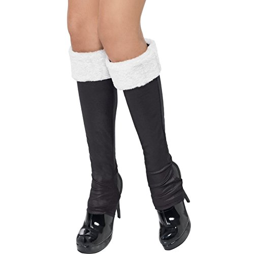 Bootcovers with White Fur Trim Fancy Dress Woman Costume