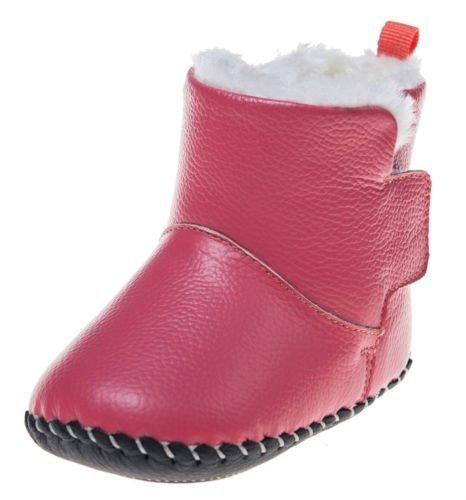 Little Blue Lamb Scarpe Neonato Scarpe Per Camminare Stivaletti Stivali rosa Peluche - hummer rosso, 12-18 Mesi