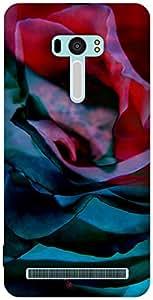 The Racoon Grip printed designer hard back mobile phone case cover for Asus Zenfone Selfie. (Petals)