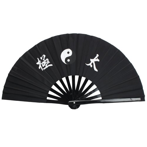 Crazy K&A Pro Chinese Kung Fu Martial Arts Dance/Practice Performance Tai Chi Fan Bamboo (Black)