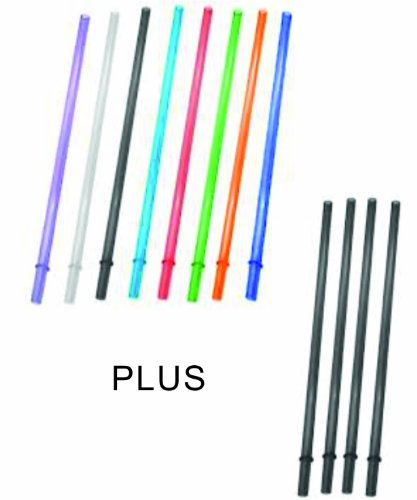 10.5 Inch Long Color Replacement Acrylic Straw Set of 8, fit