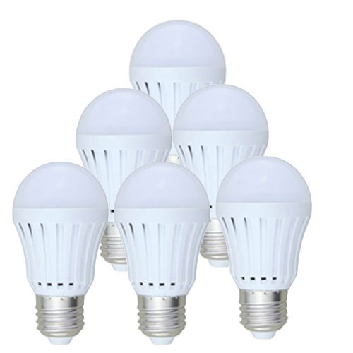 SmartDealsPro 6-Pack AC100-240V 3W 6000K Cool White E27 LED Lights Bulb Lamp 260 Lumen, 25W Incandescent Bulb Replacement Plus Free Cable Tie