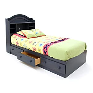Amazon.com - Summer Breeze Twin Bed & Bookcase Headboard Blueberry ...