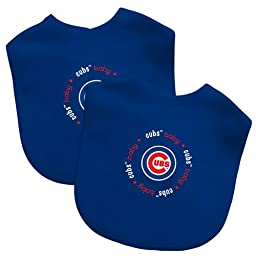 Baby Fanatic Team Color Bibs, Chicago Cubs, 2-Count (Discontinued by Manufacturer) (Discontinued by Manufacturer)