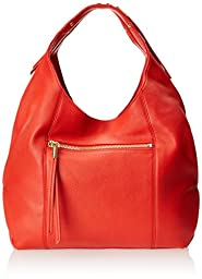 Vince Camuto Zoe Hobo Shoulder Bag,Real Red,One Size
