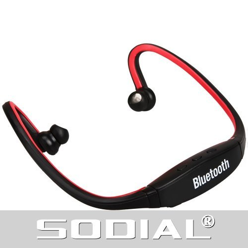 Sodial(R) Red Sports Wireless Bluetooth Headset Headphone For Symbian Os Only