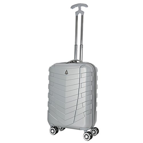 aerolite-armour-abs-hard-shell-lightweight-hand-cabin-luggage-suitcase-with-8-wheels-silver
