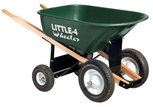 Big 4 Wheeler Heavy-Duty Wheelbarrow, 6 Cubic Feet (Wheelbarrow Dual Wheel compare prices)