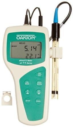 Oakton pH 11 Portable pH/mV Meter, with All-in-One pH/Temperature Probe