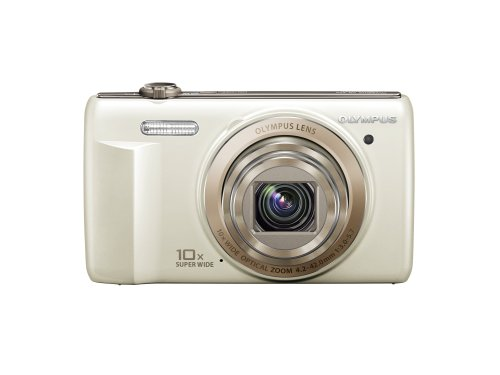 Olympus VR-340 16MP Digital Camera with 10x Optical Zoom (White)