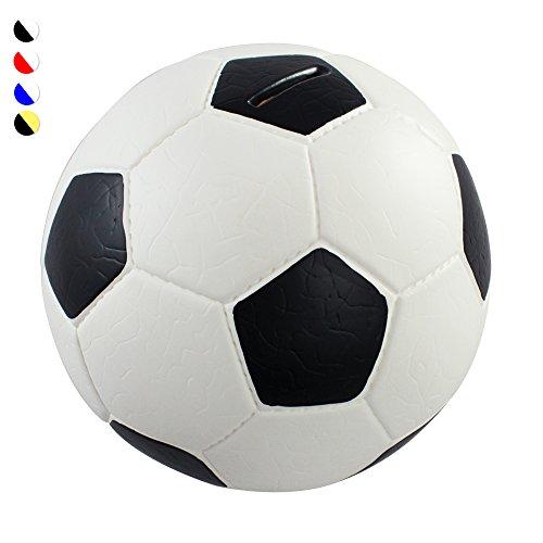 HMF 4790-01 Soldi Salvadanaio, Pallone da Calcio In Pelle Sintetica, 15 cm , bianco nero