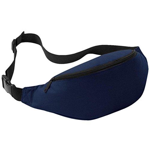 Sport Marsupio Clode® Unisex di sSport Esterni Esecuzione Marsupio (Colour : Blu scuro)