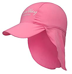 SunWay Baby Kids Girls Pink Legionnaire Hat Cap UV protective (UPF 50+) (Kids)