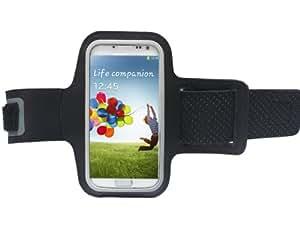 Bingsale Schwarz Reflektierende Anti-Rutsch Sports Fitnesszentrum Jogging Armband Tasche Oberarmtasche Schutz Hülle Etui Case für Samsung Galaxy S4 IV i9500 Android Smartphone Handy