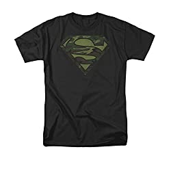 Superman Camo Logo Distressed T-Shirt
