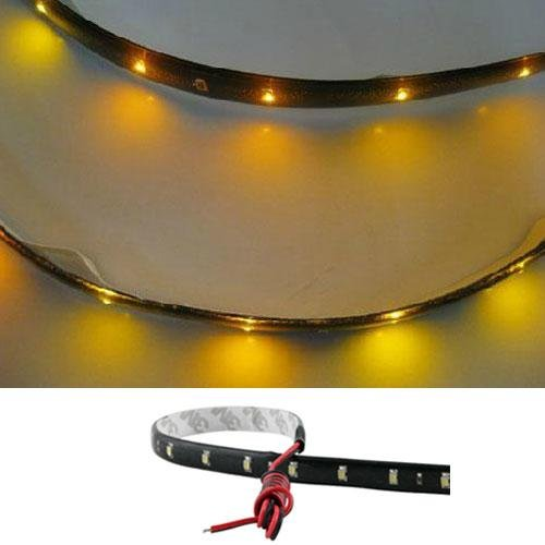 Fashion Partical New 3020 Smd 15 Led Lamp String Waterproof Flexible Car Strip Light 30Cm Yellow