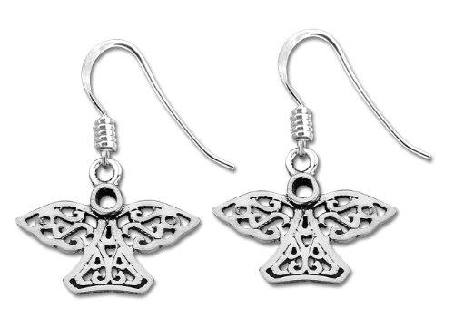 Celtic Anti-Tarnish 925 Sterling Silver Drop Earrings - 13mm*22mm