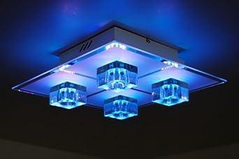 lampadari con telecomando : Lampada da soffitto LED con telecomando Plafoniera Lampadario Design ...