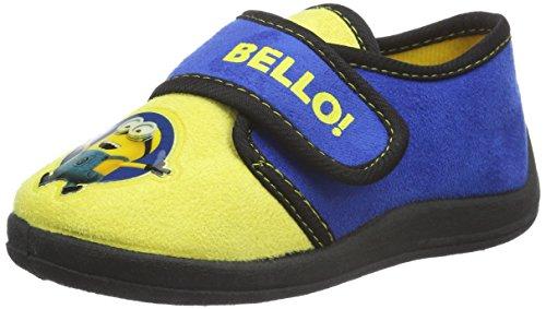 Minions-Boys-Kids-Velcro-Low-Houseshoes-Zapatilla-de-estar-por-casa-Nios