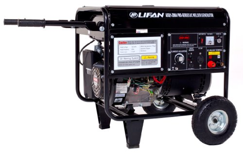 Lifan Pro Series Weldpro Axq1-200A Commercial 200 Amp Dc Arc Welder/4000 Watt Generator Combo With 15 Hp Ohv Industrial Grade 4-Stroke Gasoline Engine With Electric Start