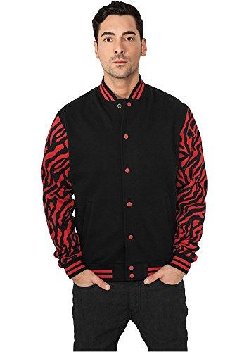 2-tone Zebra College Jacket red/blk XL