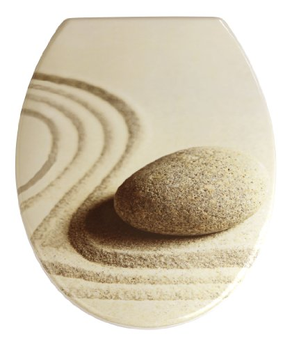 19651100 Thermoset Plastic Toilet Seat, Sand And Stone By Wenko