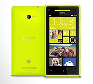 HTC 8X Windows 8 AT&T Phone (8GB) - Yellow Color - UNLOCKED - NO CONTRACT - ONE YEAR US WARRANTY