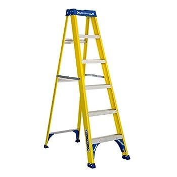 Louisville Ladder FS2006 250-Pound Duty Rating Fiberglass Step Ladder, 6-Feet