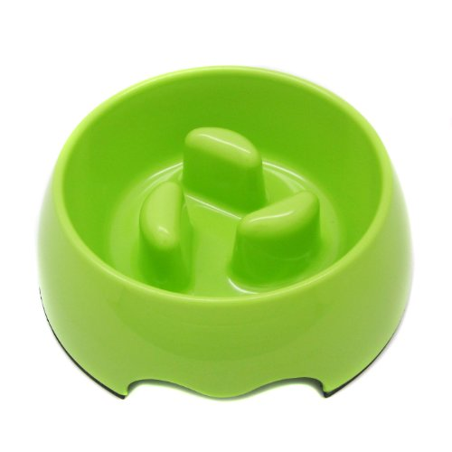 Healthy Diet Vea Slow-Eating Anti-Gulping Pet Food Bowl (for Dogs & Cats) – Color: Light Green, Size: Small