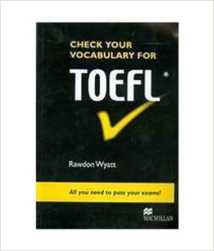 Check Your Vocabulary for Toefl price comparison at Flipkart, Amazon, Crossword, Uread, Bookadda, Landmark, Homeshop18