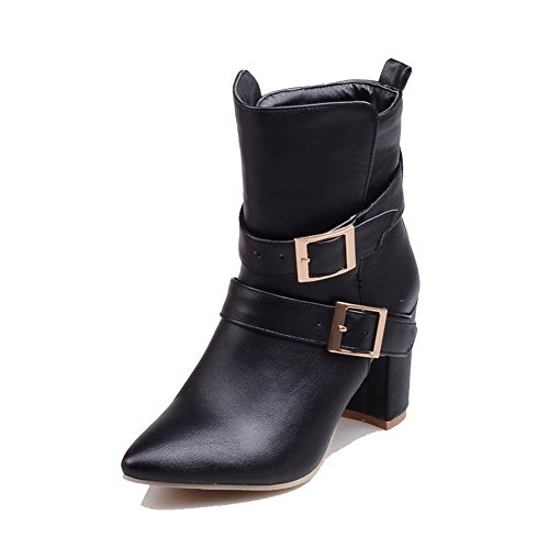 agoolar-womens-low-top-solid-buckle-pointed-closed-toe-high-heels-boots-black-44