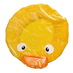 Imported Cartoon Design Kids Shower Cap Hat Waterproof Bath Hair Cover Yellow Duck
