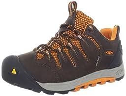 KEEN Women\'s Bryce WP Hiking Shoe,Cascade Brown/Persimmon,5.5 M US