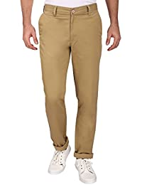 Barata Khaki Chinos For Men Trouser Regular Fit , 100% Cotton Chinos Pants For Men