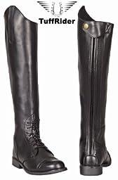 TuffRider Women\'s Starter Back Zip Field Boots in Synthetic Leather, Black, 10 Regular