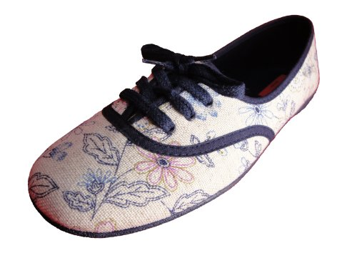 Andres Machado Women's LINEN Canvas Flats Big Size Shoes